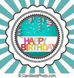 Happy Birthday Retro Vector Card