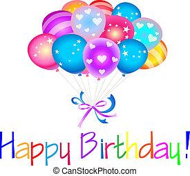 Happy Birthday with balloons