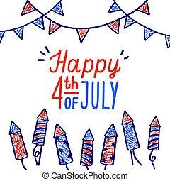 Happy fourth of July card.