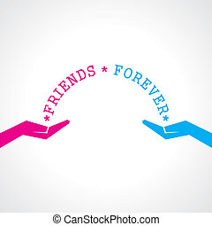 Happy friendship day greeting card stock vector
