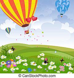 Happy hot air balloon