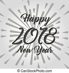 happy new year 2018 card text design celebration