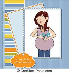 happy pregnant woman