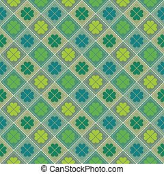 Happy Saint Patrick's day. Seamless pattern