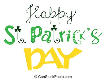 Happy St. Patricks day ornate text greeting card template
