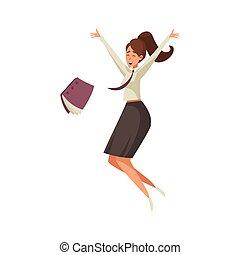 Happy Woman Illustration