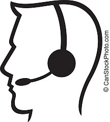 headset symbol (man headset)