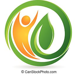 Health nature man vector logo