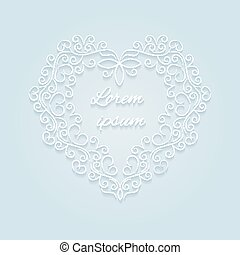 Heart, decorative ornamental