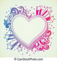 heart doodle gradient version