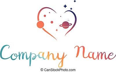 Heart of Universe vector logo image