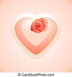 Heart with rose