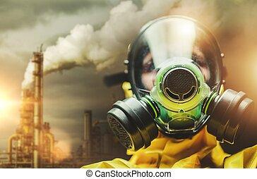 Heavy Air Pollution Concept