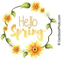 Hello spring text banner
