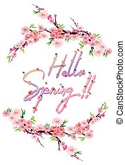 Hello spring text letter