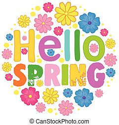 Hello spring text template