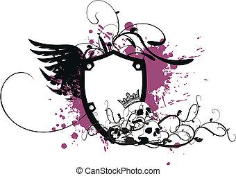 heraldic coat of arms skull8