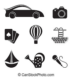 Hobby and leisure icons