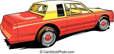 vectpr. stock car, racing, dirt track, classic