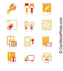 Home repair icons | JUICY series