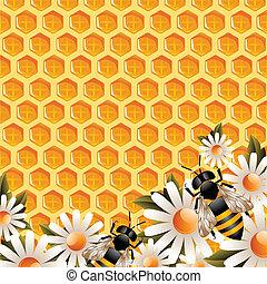 Honey Floral Background