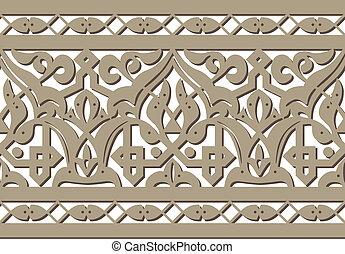Horizontal seamless Arabic style pattern