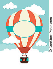 Hot Air Balloon with label and space for text