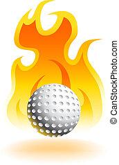 Hot Golf Ball