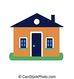 House on white background. Vector illustration in trendy flat style. ESP 10.