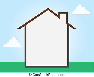House outline empty space throughout