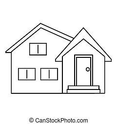 housewarming facade exterior outline