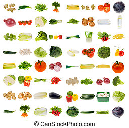 huge vegetable collection isolated on a white background, all pieces individually photographed in studio and no shade so its easy to select.