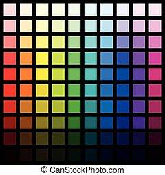 Hundred Different Colors Spectrum Black Background