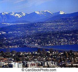 I-90 Bridge Seattle Mercer Island Bellevue Somerset Washington State Pacific Northwest
