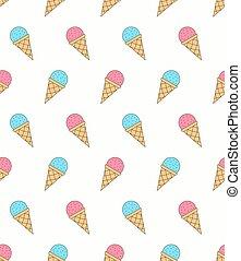 Ice Cream - Seamless Pattern