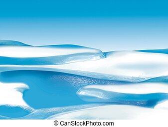 Ice floe - Highly detailed cartoon background 30 - illustration