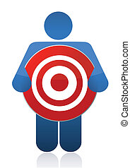 icon holding a target sign
