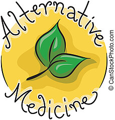 Icon Illustration Representing Alternative Medicine