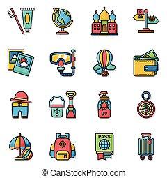 icon set travel