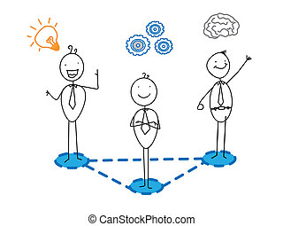 idea good progress Smart businessman team connection vector image