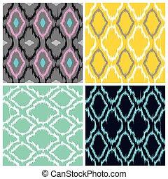 Ikat Seamless Pattern Collection