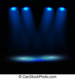 Illuminated stage vector template