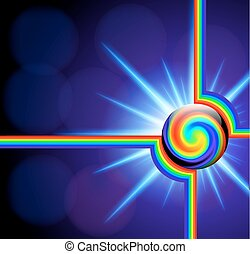 abstract background with glass ball spectrum spiral