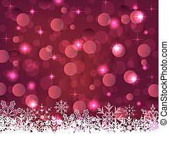 Christmas glowing background with snowflakes