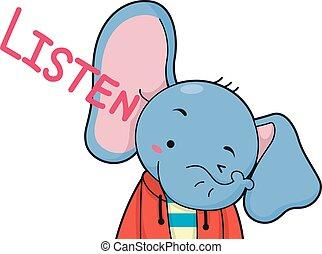 Cute Elephant Listen