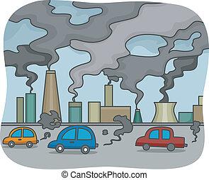 Illustration of Air Pollution