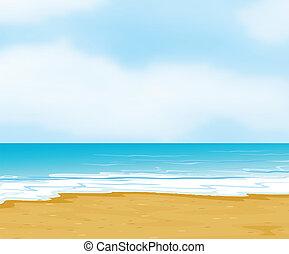 an ocean and a beach