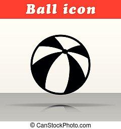 black ball vector icon design
