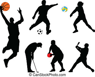 illustration of collection of different sport - vector
