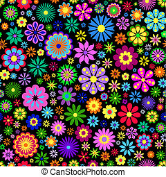 colorful flower on black background